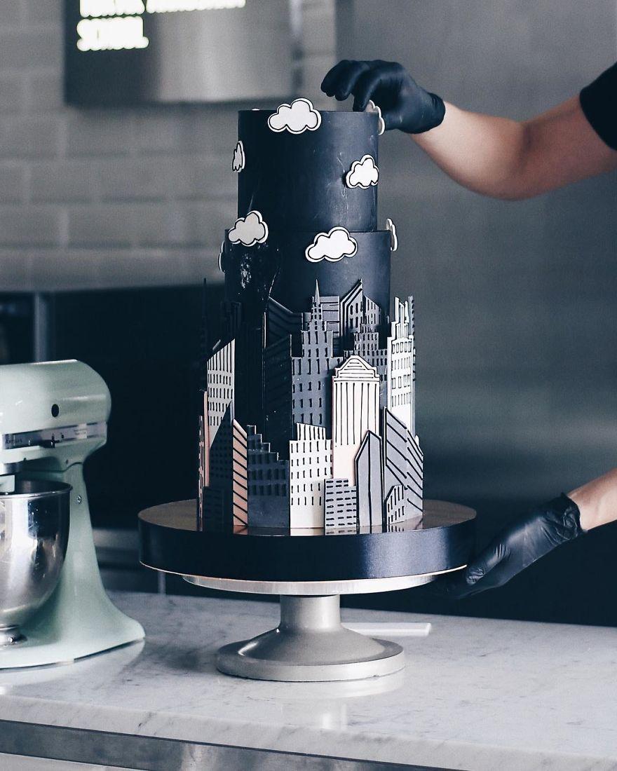 طراحیهای کیک با ایدههای معماری