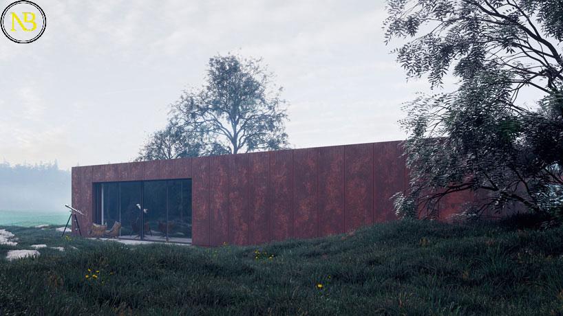 طراحی خانه رُز با سبک معماری مینیمالیسم