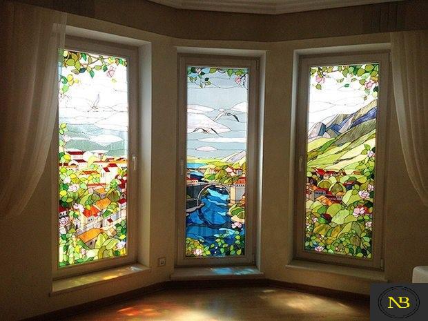 زنده کردن معماری سنتی با به کار بردن شیشه های رنگی