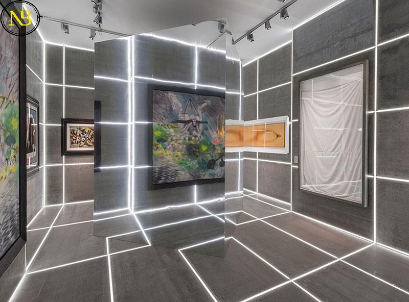 نمونه طراحی غرفه نمایشگاهی با LED