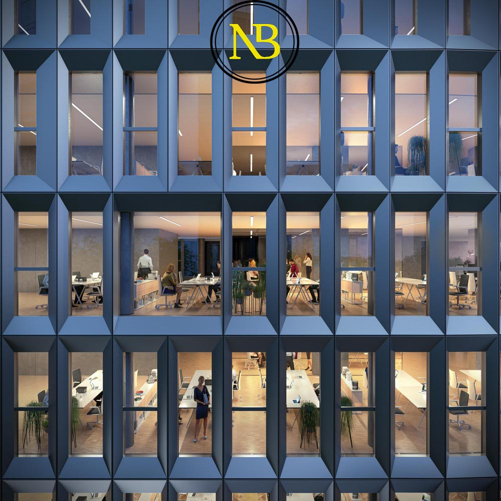ساختمان اداری به شکل بازوهای باز در پاریس