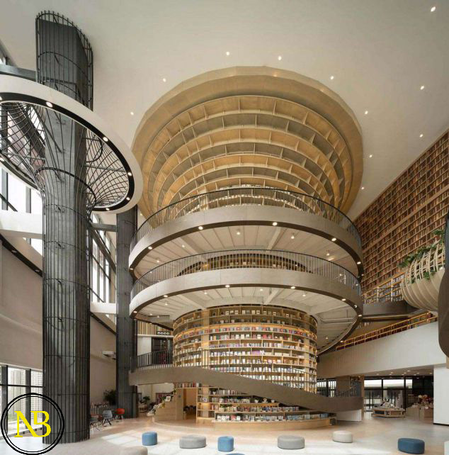 طراحی متفاوت یک کتابخانه در چین