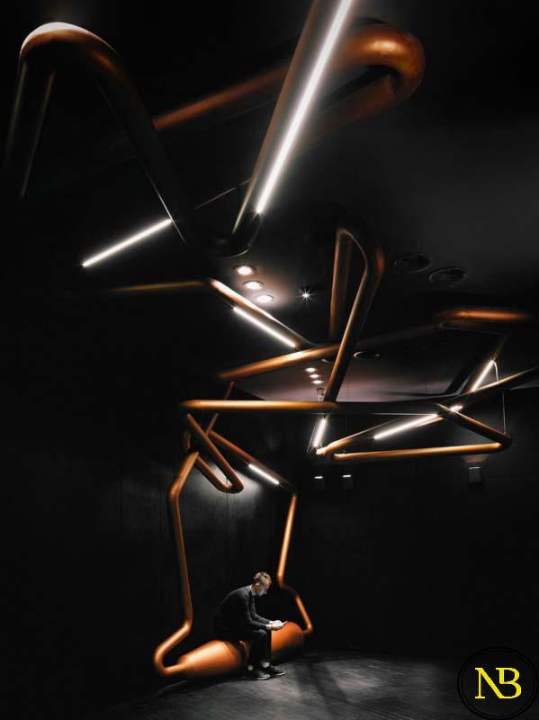 لوله های مسی | ایده برای طراحی سینما با لوله های مسی | ایده های جدید معماری | معماری های روز دنیا | تیم معماری پروسه