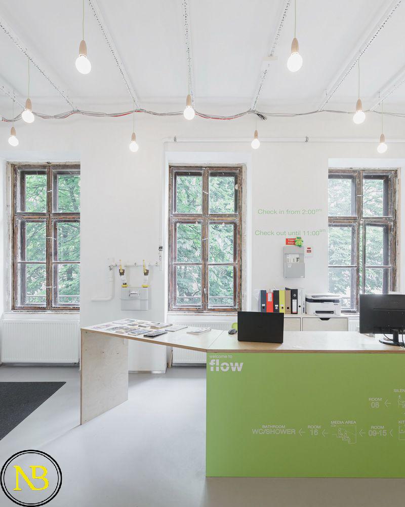 طراحی هاستل با رنگ زرد | هاستل طراحی معماری در مجارستان | تازه های معماری | رنگ ترند سال 2020 | اخبار معماری ایران و جهان | طراحی های متفاوت معماری | جدیدترین های معماری | تیم معماری پروسه