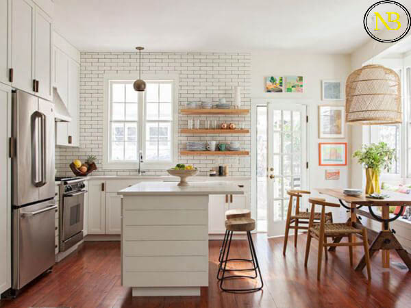طراحی کابینت آشپزخانه | اصول طراحی آشپزخانه | نکات مهم در طراحی کابینت آشپزخانه | معماری آشپزخانه مدرن | طراحی آشپزخانه پنجره دار | طراحی ورودی آشپزخانه | آشپزخانه غیر همسطح