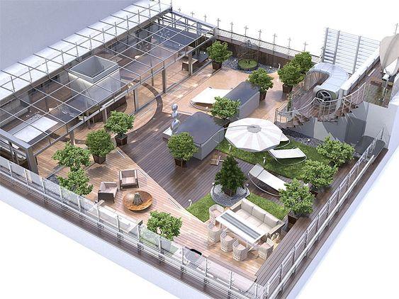 اخبار معماری، نمونه اجرای معماری سبز (روف گاردن) بام سبز