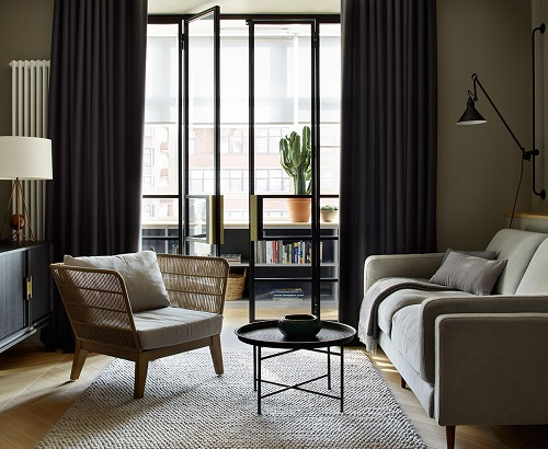 دکوراسیون داخلی و طراحی آپارتمان طوسی طراحی خانه با متراژهای کم | سایت معماری نیما بلواسی | منزل مدرن با مبلمان طوسی رنگ | دکوراسیون طوسی رنگ