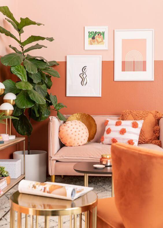 دکوراسیون به رنگ نارنجی + تصاویر