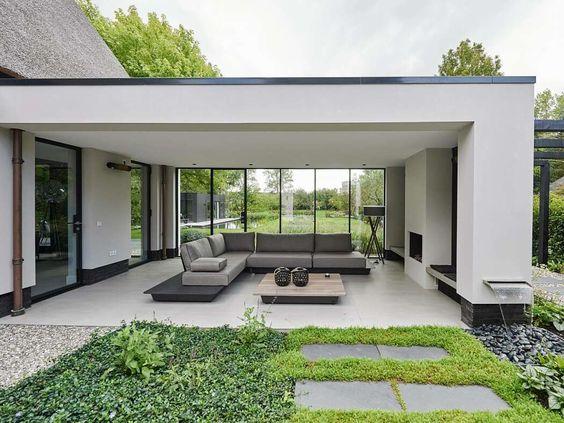 طراحی باغ و ویلا به سبک مدرن