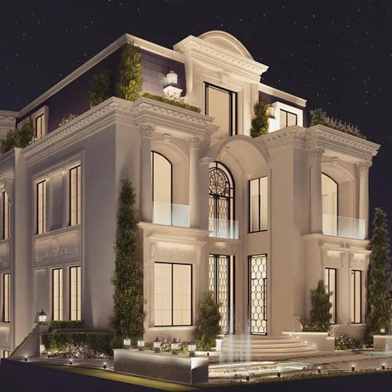 طراحی باغ ویلا کلاسیک