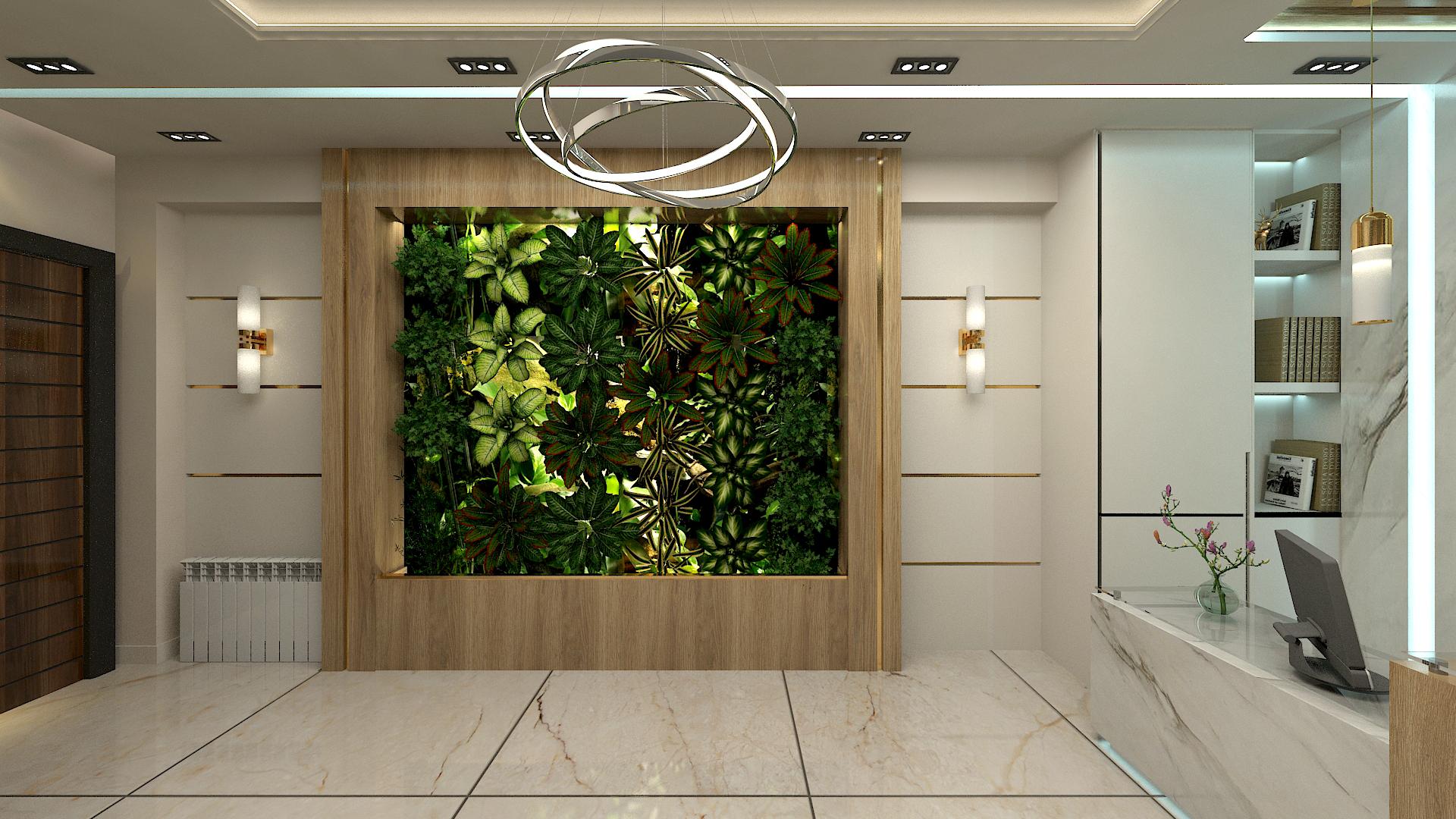 اجرای دیوار سبز در مشهد طراحی نیما بلواسی